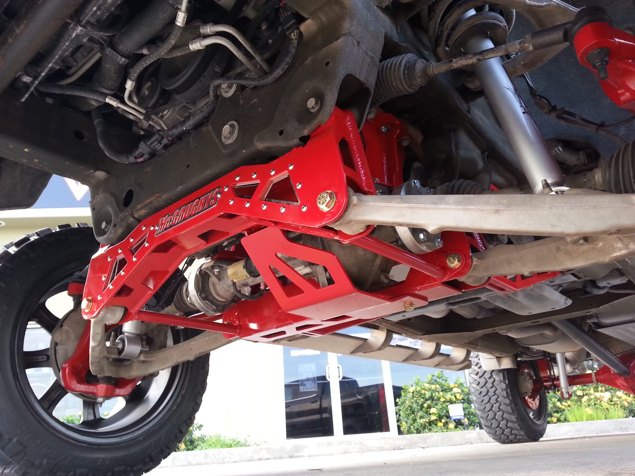 McGaughys Suspension Lift, painted Red